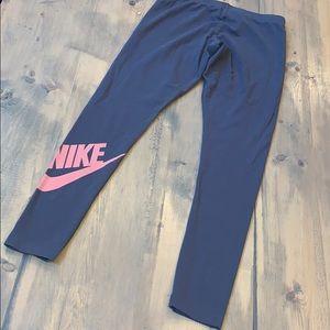 Nike gray and pink leggings